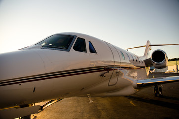 Corporate Jet Side View