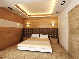 Modern bedroom in minimalist style