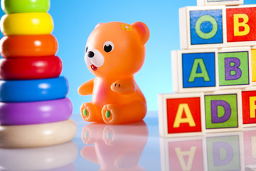 Toys and bear