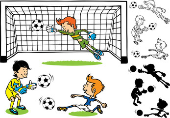 Goalkeeper soccer kids