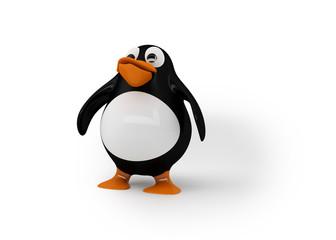 stolzer, selbstbewusster Pinguin (mit Freistellungspfad)