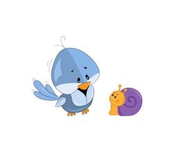 bird and snail
