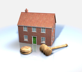 House sales and auctions CAD illustration