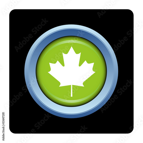 quotinternet bouton logo feuille 233rable canada arbre