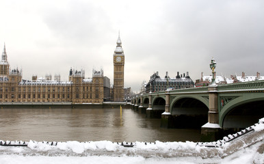 Fotomurales - Snow Covered Westminster