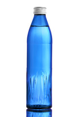 Glass blue bottle