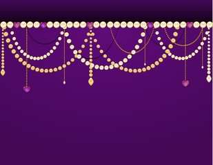 Beautiful background with lace ornaments and beads