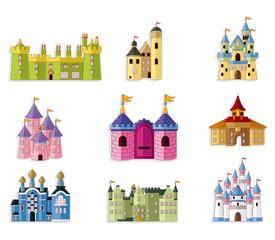 cartoon Fairy tale castle icon.
