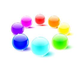 color balls perspective
