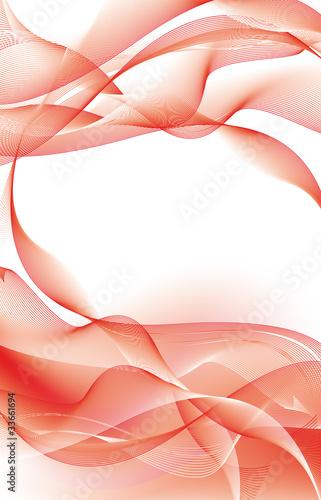 Sfondo Astratto A Tema Energico Con Linee Curve In Rosso Stock