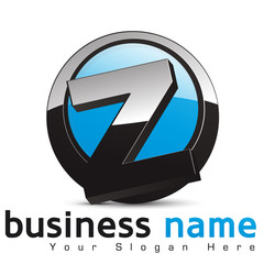 logo business design, lettre Z