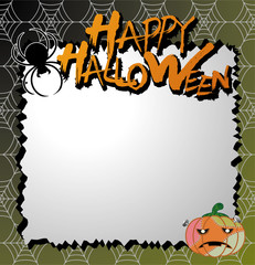 vector halloween card / letter paper