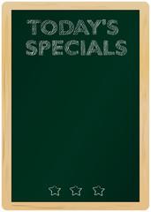 blackboard w. Today's Specials Message