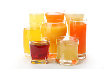colorful summer drinks