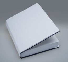 White book with plain cover