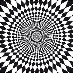 Tuinposter Psychedelic vecteur, illusion d'optique