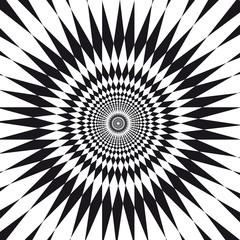 Tuinposter Psychedelic illusion d'optique