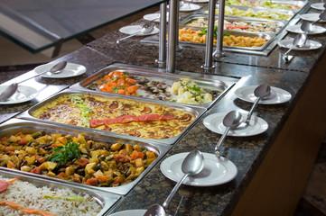 Traditional Turkish food at restaurant.