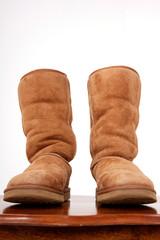 brown sheepskin boots