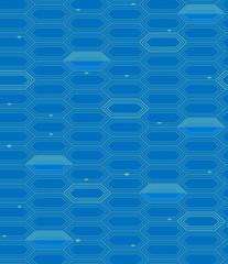 Vector abstract hexagon seamless pattern