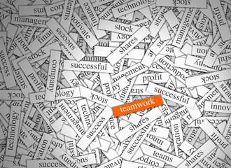 Magnetic Word Labels - Teamwork