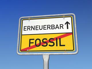 Schild erneuerbare Energie