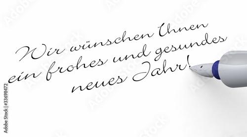 Stift - Wir wünschen Ihnen ein frohes und gesundes neues Jahr\