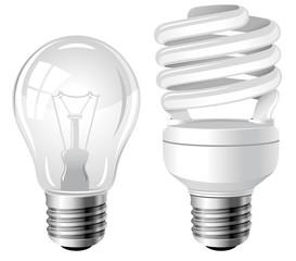 Two type of light bulbs