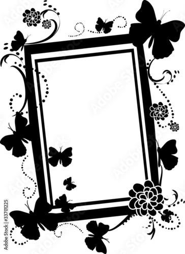 Empty Butterfly Frame sihouette\