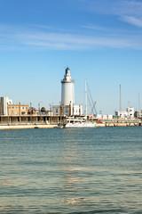 Der Leuchtturm von Malaga, Spanien