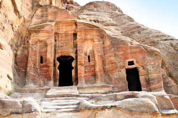 Tombs in Wadi al-Farasa valley, Petra