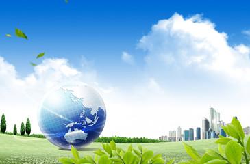 ecology concept. blue planet
