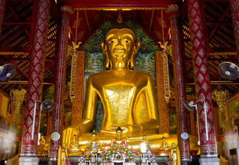Golden Buddha Image in Temple