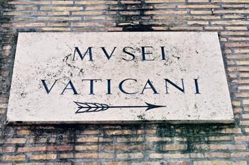 Signboard of Vatican Museum
