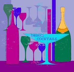 bar or restaurant card,design template,vector