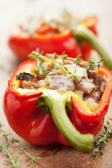 stuffed paprika with meat and vegetable