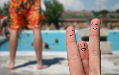 finger hug on Summer Vacation theme