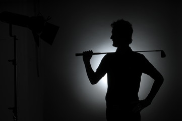Golfer´s silhouette