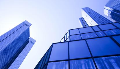 Fotobehang Aan het plafond Glass skyscrapers,business center