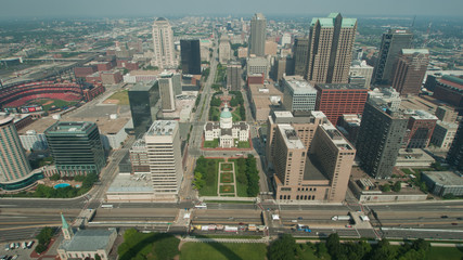 Aerial View Dowmtown Saint Louis