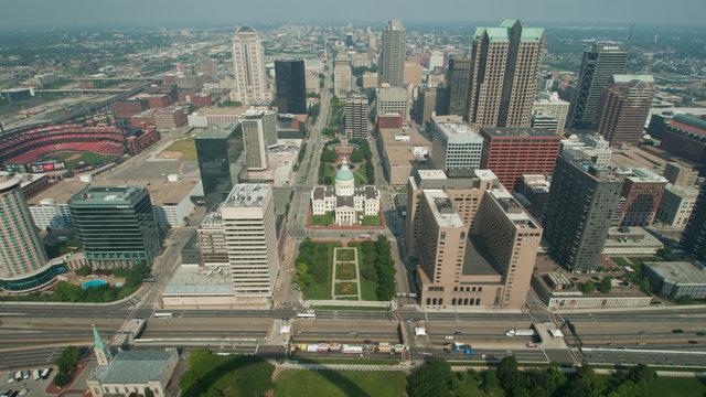 Aerial View Dowmtown Saint Louis