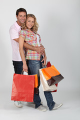 Cuddle with shopping bags
