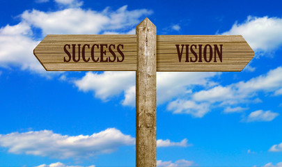 Country Sign Post - Success & Vision