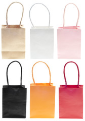 Shopping Bag Sack Set in Colors
