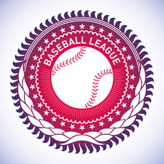 Illustrated modish baseball emblem.