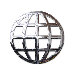 Chrome World Wide Web globe symbol