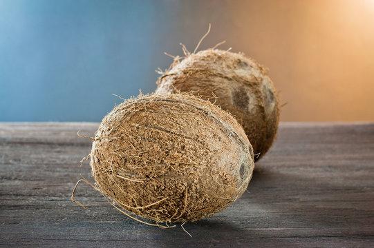 coconut  on wood