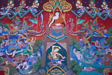 Mural Buddhist religion
