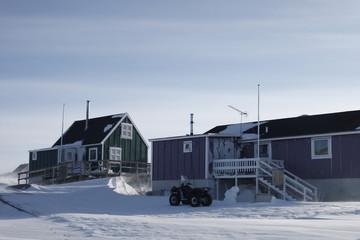 Arctic housing, Ilimanaq, Greenland