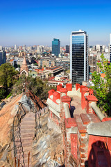 Santiago de Chile (view from Cerro de Santa Lucia)